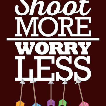 Arrow Shirt Shoot More Worry Less Archery Gift Tee Men Women, Archery Shirt, Archery Gift, Archery, Arrow, Arrow Shirt, Arrow Gift, Gift For Archery, Archer, Archer Shirt, Gift For Archer by artbyanave