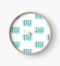 Bar Code Ribbon PTSD Awareness Clock