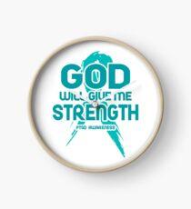 God Will Give Me Strength! PTSD Awareness Clock