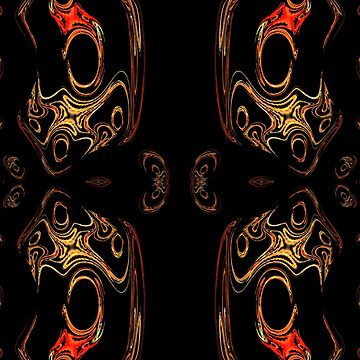 A red & gold pattern created in gimp fractal trace by ZipaC