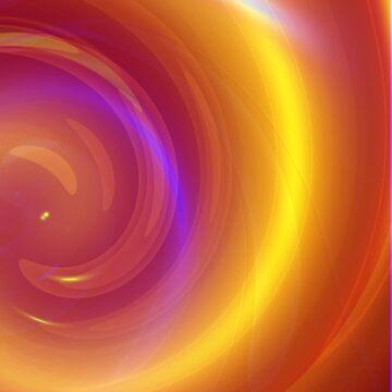 Orange swirl abstract background like as fire by Shoshina