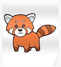 Katzenbär Süß Roter Panda Red Panda Poster