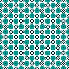 Flowers and spikes – turquoise by Jens Callius