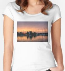 Vivid Yacht Club Sunrise -  Women's Fitted Scoop T-Shirt