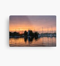 Vivid Yacht Club Sunrise -  Metal Print
