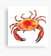 Colorful Red and Yellow Crab  Canvas Print