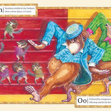 Ballroom Bonanza: Numbats nutbush, Orangutan's boogaloo by ninarycroft