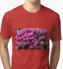 Pink Flower Bush Tri-blend T-Shirt