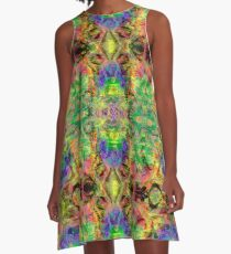 Painted Skies Psychedelic A-Line Dress