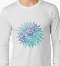 Blue Gradient Mandala  T-Shirt