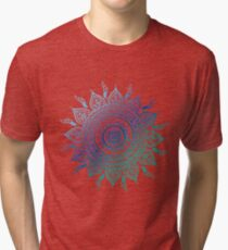 Blue Gradient Mandala  Tri-blend T-Shirt
