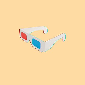 3D Red Blue Anaglyph Glasses  by closeddoor