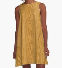 Holzmaserung A-Linien Kleid