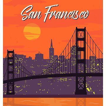 San Francisco vintage poster travel by paulrommer