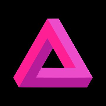 Impossible Triangle (Pink) by realmatdesign