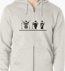 Music band flat design Zipped Hoodie