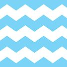 Blue and White Large Scale Chevron Print by itsjensworld