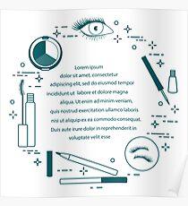 Eye makeup. Decorative cosmetics. Poster