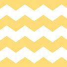 Modern Yellow and White Chevron Print by itsjensworld