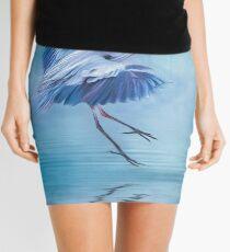 Misty Blue Mini Skirt