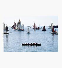 Mylor Gig at the Falmouth Classics Parade Photographic Print
