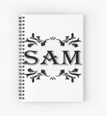 Frame Name Sam Spiral Notebook