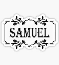 Frame Name Samuel Sticker