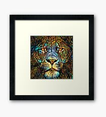 Mosaic Lion Framed Print