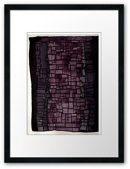 Purple graffiti print geometric pattern by AlyinWonderland
