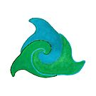 Delfine im Kreis Version 5 von Doris Thomas