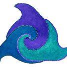 Delfine im Kreis Version 3 von Doris Thomas