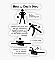 How to Death Drop Sticker