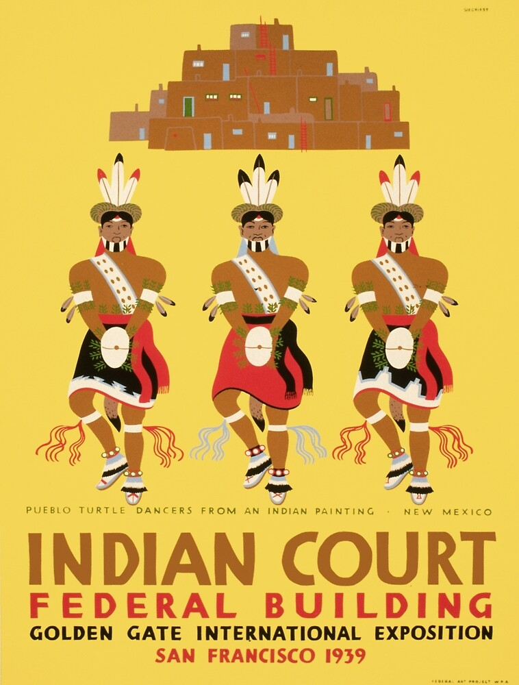 Vintage poster - Indian Court Federal Building by mosfunky