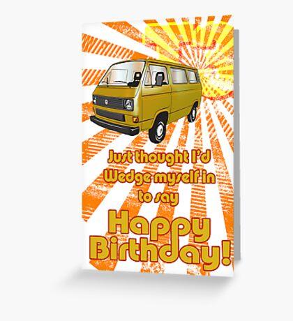 Volkswagen Kombi - Happy Birthday Greeting Card
