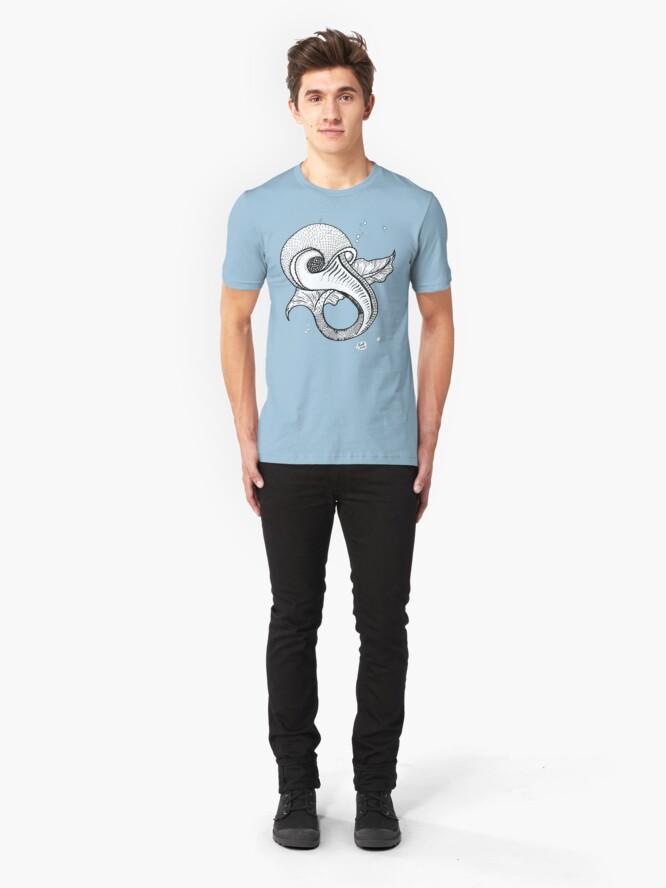 Alternate view of Odd Fish (Tee) Slim Fit T-Shirt