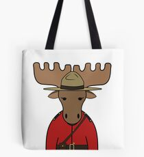 Canada Day Moose Mountie Police Tote Bag
