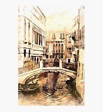 Bridge in Venice Vintage Look Photographic Print