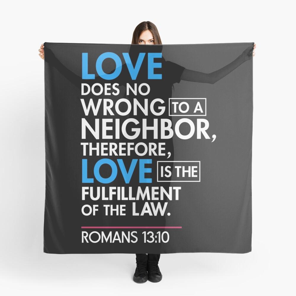 Immigrant Bibel Zitat T-Shirt, Römer 13:10 Tuch