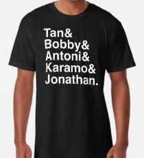 Queer Eye Tan Bobby Antoni Karamo & Jonathan (White on Black) Long T-Shirt
