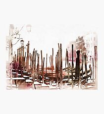 Misty Morning in Venice Painterly Effect Photographic Print