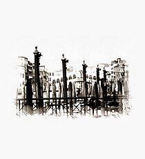 Rialto Bridge Venice Black and White Photographic Print