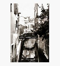 Venetian Reflections Black and White Photographic Print