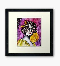 Neotraditional Tattoo Flapper Girl  Framed Print