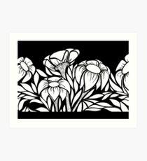 B&W Floral #1 Art Print