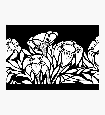B&W Floral #1 Photographic Print