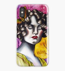 Neotraditional Tattoo Flapper Girl  iPhone Case/Skin