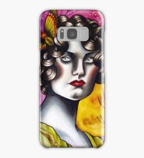 Neotraditional Tattoo Flapper Girl  Samsung Galaxy Case/Skin