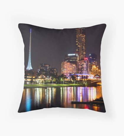 Melbourne by The Yarra Throw Pillow