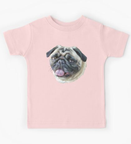 Painted Pug Dog Kids Clothes