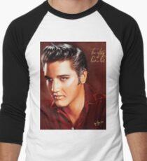 Elvis Presley Illustration The all time greatest hits. Men's Baseball ¾ T-Shirt